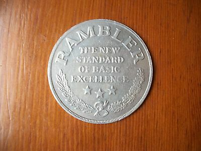 "1960's RAMBLER DOLLAR ""STANDARD OF EXCELLENCE"" ALUMINUM TOKEN-COIN"