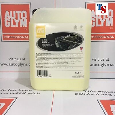 Autoglym Super Sheen 5 L 5 Litre (Plastic Rubber PRO USE ORIGINAL PACK)