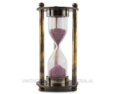 Hour Glass - Sand Timer (Leather Case) - VINTAGE NAUTICAL AUSTRALIA