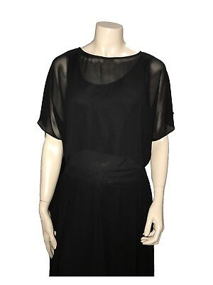 Veronica Maine Black Top great for Dancing - Size 10 - A Grade Condition