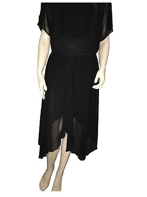 Black Portmans Skirt great for Latin Dancing - Size 10 - A Grade Condition