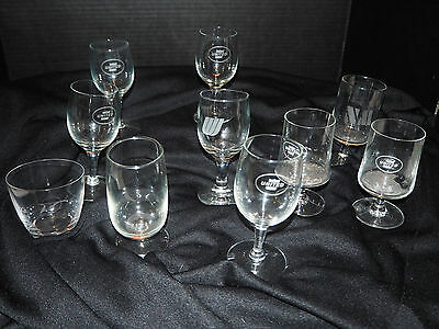 United Airlines vintage lot of glassware wine and cocktail