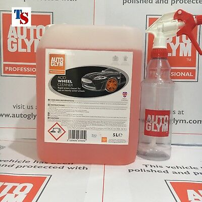 Autoglym Wheel Cleaner Acid 5 L 5 Litre +AG Bottle (car PRO USE ORIGINAL PACK)