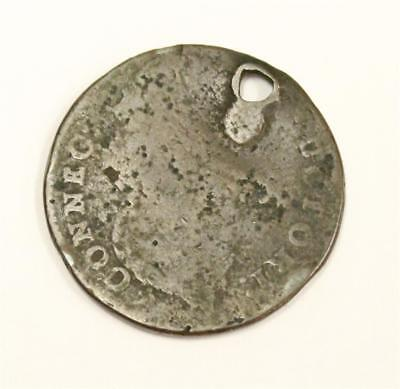 1787 USA Connecticut One Cent token poor condition with hole