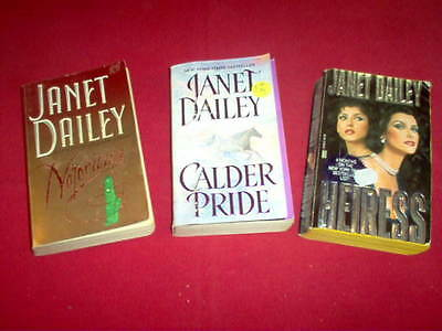 Janet Daily -  lot of 3 novels, pbs