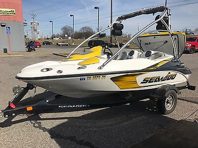 2007 Sea Doo 150 Speedster 215 Wakeboard Boat w/ Supercharged Engine and Trailer