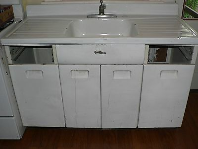 Vintage metal kitchen sink