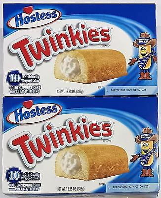 2 X Twinkies Hostess (10 Individually Wrapped Cakes 385g Box)