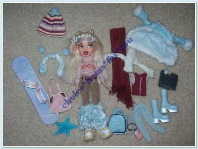 BRATZ MGA DOLL CLOE WINTERTIME WONDERLAND 1st ed 2003 ORIGINAL CLOTHING + ACCESS