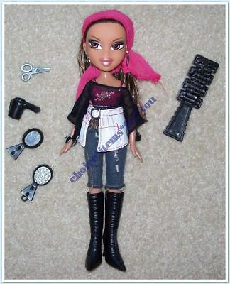 BRATZ MGA DOLL YASMIN FASHION STYLISTZ 2007 ORIGINAL CLOTHING and ACCESSORIES