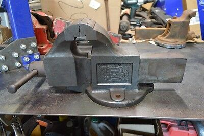 """Charles Parker 974B Bench Vise Amazing Condition 4"""" Jaws Very Little Wear"""