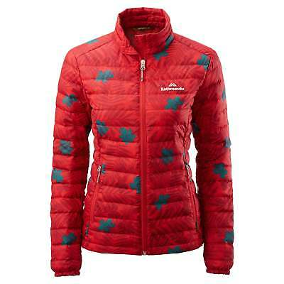 Kathmandu Heli Womens Lightweight Duck Down Coat Warm Puffer Jacket v2 Red Print