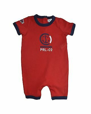 Ralph Lauren Baby Boys Infant Red One-Piece Romper Size 9 Months