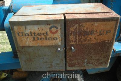 Antique Vintage United Delco Tune-Up Metal Cabinet 29x17x16""