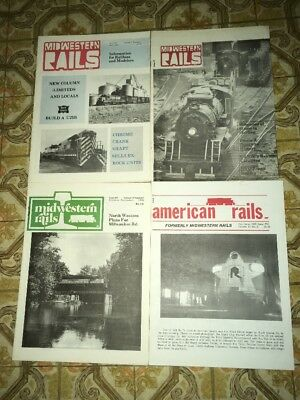 Lot Of 3 Midwestern Rails & 1 American Rails Formerly Midwestern Rails