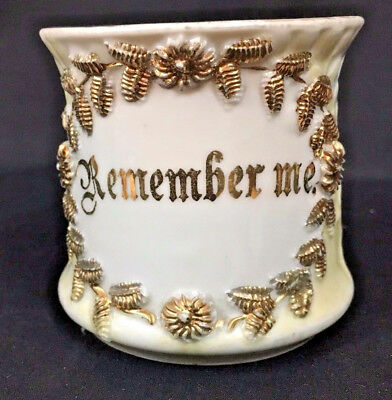 "Victorian ""Remember Me"" Porcelain Mug"