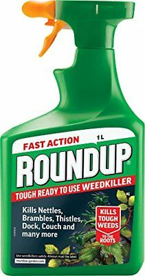 Roundup Tough Fast Action Garden Lawn Weed Killer Weedkiller 1L Spray
