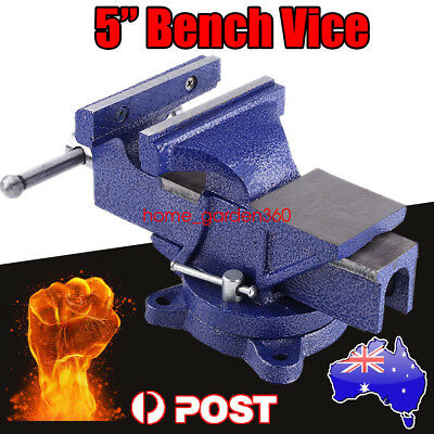 5 Inch Heavy Duty Table Bench Vice Workbench Anvil Swivel Base Grip Clamp125 MM