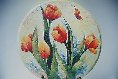 """Candice Miller tole painting pattern """"Stepping Into Spring Tulips """""""