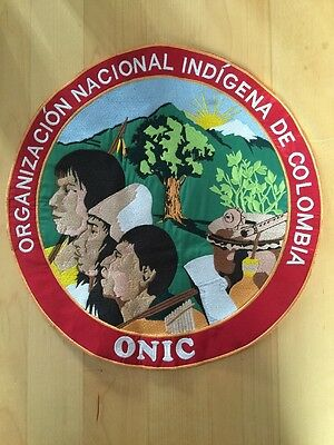 Embroidered Art Emblem National Organization Of Indigenous People Of Colombia