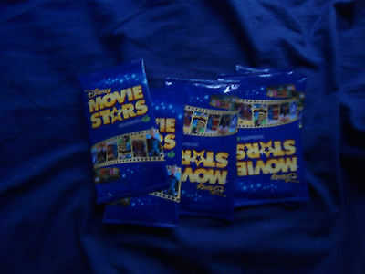 5 Woolworths Disney Movie Stars Trading Cards Unopened