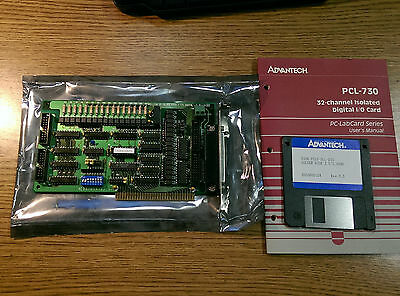 Advantech PCL-730 32-channel Digital I/O Input Output ISA Card Board