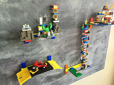 Air Bricks. LEGO wall display. Play with LEGO and other blocks. Architecture