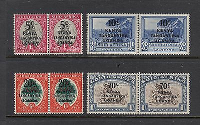 KUT: 1941-42 South Africa overprints set SG 151/4 £30, MUH.
