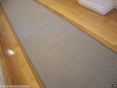 Hallway Runner Hall Runner Rug Modern Grey 350cm Long FREE DELIVERY