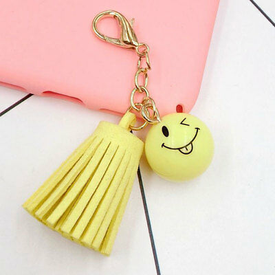 Fashion Cute Smiling Face Tassel Bag Pendant Lovely Accessory Yellow Gift