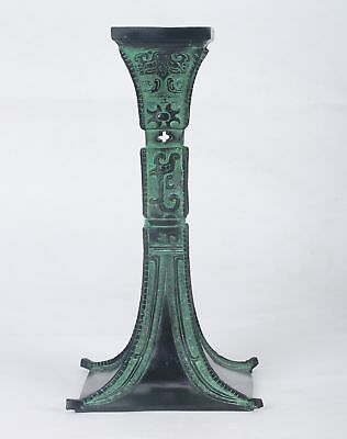 Chinese Bronze Handwork Caverd Goblet (a kind of drinking vessel)QT001
