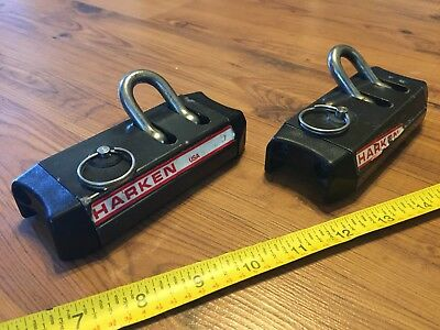 "Pair Of Heavy Duty Harken Lead Genoa Car Sliders (1 1/4"" Track)"