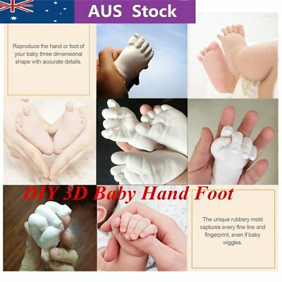 3D Plaster Molding Clone Powder Kids Handprints Footprints Baby Hand Foot P6