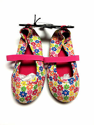 """""""Garanimals"""" Girl's Mary Jane Toddler Pink Multi Flowers Shoes Size 6 - New"""