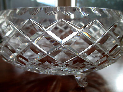 Antique/Vintage English Colonial-style Diamond Cut Crystal Fruit Bowl