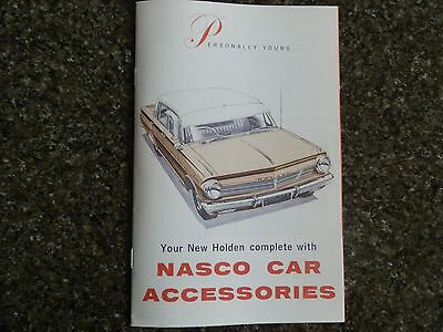 Holden Eh Accessories Sales Brochure ''nasco''  100% Guarantee