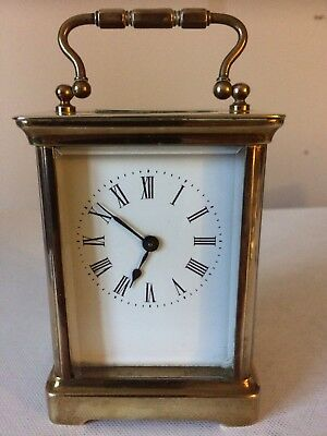 Antique Early 1900 Century French 8 Day Carriage Clock Working