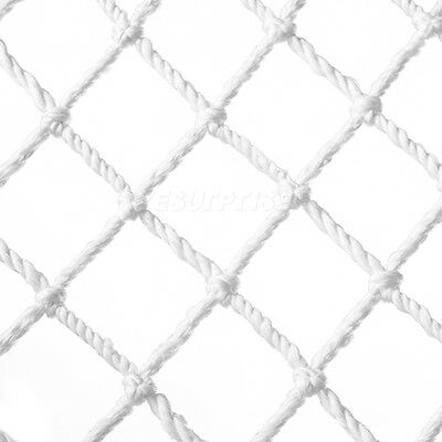 White Cargo Rope Outdoor Play Climbing Frame Safety Mesh Natural Net Home Decor