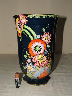 Crown Devon Art Deco Lustre Abstract Floral Vase Rare &  Truly Stunning