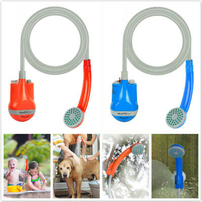 Outdoor Portable Rechargeable Handheld Shower Camping Beach Showerhead USB Cable