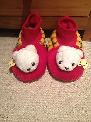 Pair Of Old Marks And Spencer Rupert The Bear Slippers