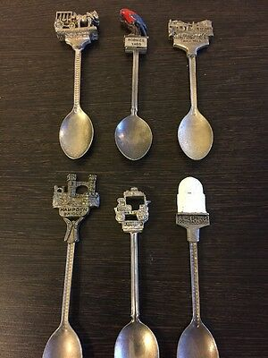 Silver Plated Collector Spoons X  6 Australia