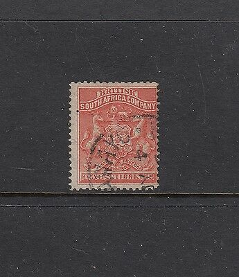 RHODESIA: 1892-93 2/- Arms definitive SG 5 £42, fine used.