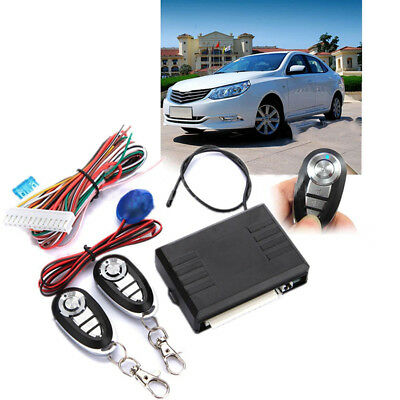 Car Vehicles Remote Control Kit Door Lock Locking Keyless Entry System w/ Keys