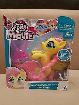"""My Little Pony The Movie Glitter & And Style Seapony Fluttershy 6"""" Mermaid Toy"""