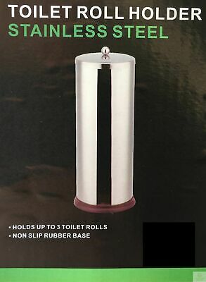 Spare Toilet Roll Holder Metal Stainless Steel Bathroom Storage Dispenser 5404