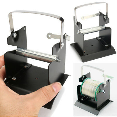 Soldering Solder Wire Reel Dispenser Holder Stand Tin Management Spool Metal NEW