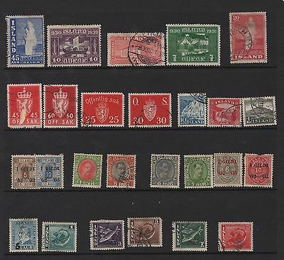ICELAND -  Some very old from 1930 in excellent condition