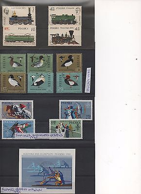 POLAND - 2 sheets of Beautiful Stamps including some MINT stamps