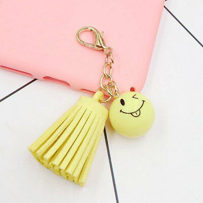Fashion Smiling Face Tassel Bag Pendant Lovely Accessory Beauty Yellow